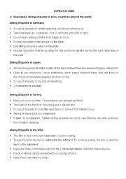 English Worksheets: INTERCHANGE 3A UNIT5 EXPECTATIONS
