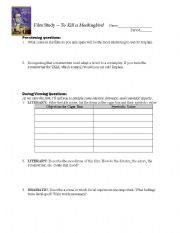 Printables Film Study Worksheet english teaching worksheets movies to kill a mockingbird film study