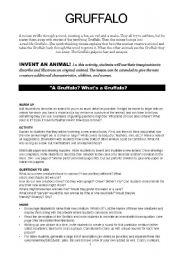 English Worksheets: gruffalo worksheet