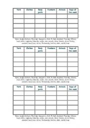 English Worksheets: Spread the Words