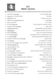 English Worksheets: misery - the movie