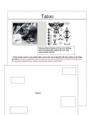 English Worksheets: Tatoo