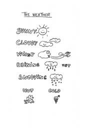 English worksheet: The weather for children