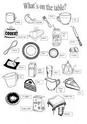English Worksheet: English tea vocabulary