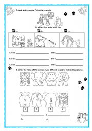 English Worksheets: Wild Animals ( Part 2)