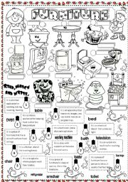English Worksheet: furniture