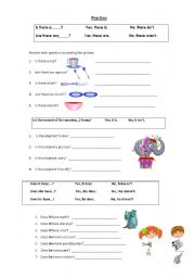 English Worksheet: Yes / No questions
