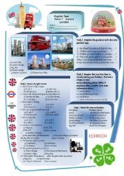 English Worksheet: Test on London. Do You Know It? Question Tags.