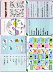 English Worksheet: my classroom objects minibook( games and activities to revise classroom objects)