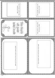 English worksheet: Minibook template