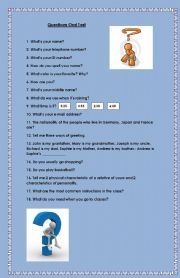 English Worksheets: Questions for oral practice