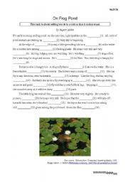 English Worksheets: Adding words to text