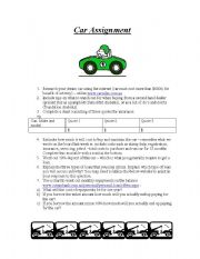 English Worksheets: Car Assignment
