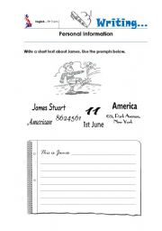 English Worksheets: Personal Information_writing