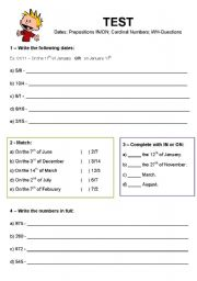 Printables English Test Grade  2 english teaching worksheets tests and exams test