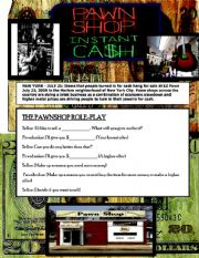 English worksheet: The Pawnshop Role play