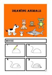 English Worksheet: DROWING ANIMALS