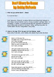 English Worksheets: song: Don´t Worry Be Happy + tasks : (reuploaded)