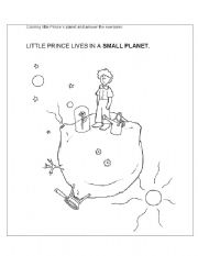 English Worksheets: Little Prince exercise