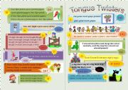 English Worksheet: Tongue Twisters Minibook (Part 1)