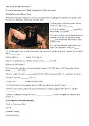 English Worksheets: Horror movie rules
