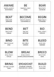 English Worksheet: Splling Bee - Irregular Verbs