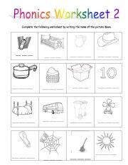 Phonics Worksheet 2