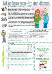 English Worksheets: Reading-comprehension