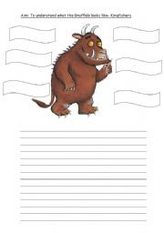 English Worksheets: Describe the Gruffalo
