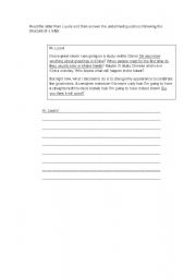English Worksheets: Making a letter