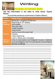 English Worksheet: describing an ancient place