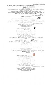 English Worksheets: Crazy song by Aerosmith