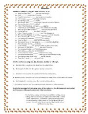 English Worksheet: Conectors handout
