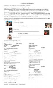 English worksheet: If I knew then by Lady Antebellum