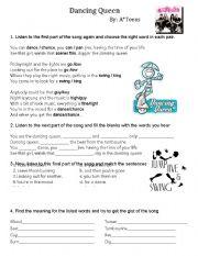 English Worksheets: Dancing Queen