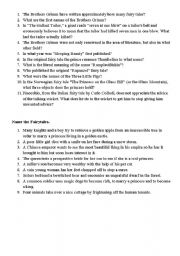 English Worksheets: Fairytales - Questions (research)