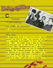 English worksheet: The Copyright Wars #4 - The Plaintiffs - (The Figgs)