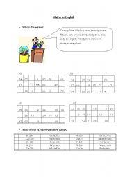 Maths in English