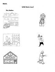 math worksheet : english teaching worksheets community helpers : Kindergarten Community Helpers Worksheets