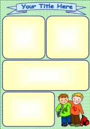 English worksheet: School Buddies Template