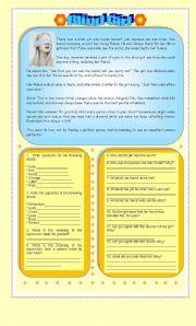 English Worksheets: Blind Girl