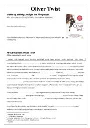 English Worksheet: Oliver Twist - warm-up activities before the movie