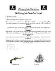 English Worksheet: Video Guide: pirates of the caribbean