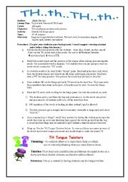 English Worksheet: How To Teach The TH Sound (UPDATED 7-03-2011) Part 1 Lesson