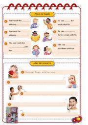English Worksheets: Five sense