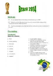 English Worksheet: Brazil - World Cup 2014