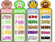 English Worksheet: COLORS & NUMBERS- Bookmarks