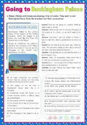 English Worksheet: A trip to London - Going to Buckingham Palace