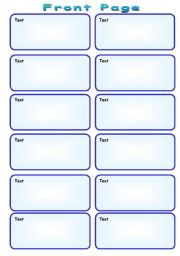 English worksheet: Speaking Cards Template (2 pages)