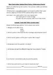 english teaching worksheets poetry. Black Bedroom Furniture Sets. Home Design Ideas